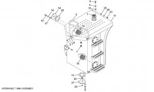 Lonking spare parts CDM835E HYDRAULIC TANK ASSEMBLY :